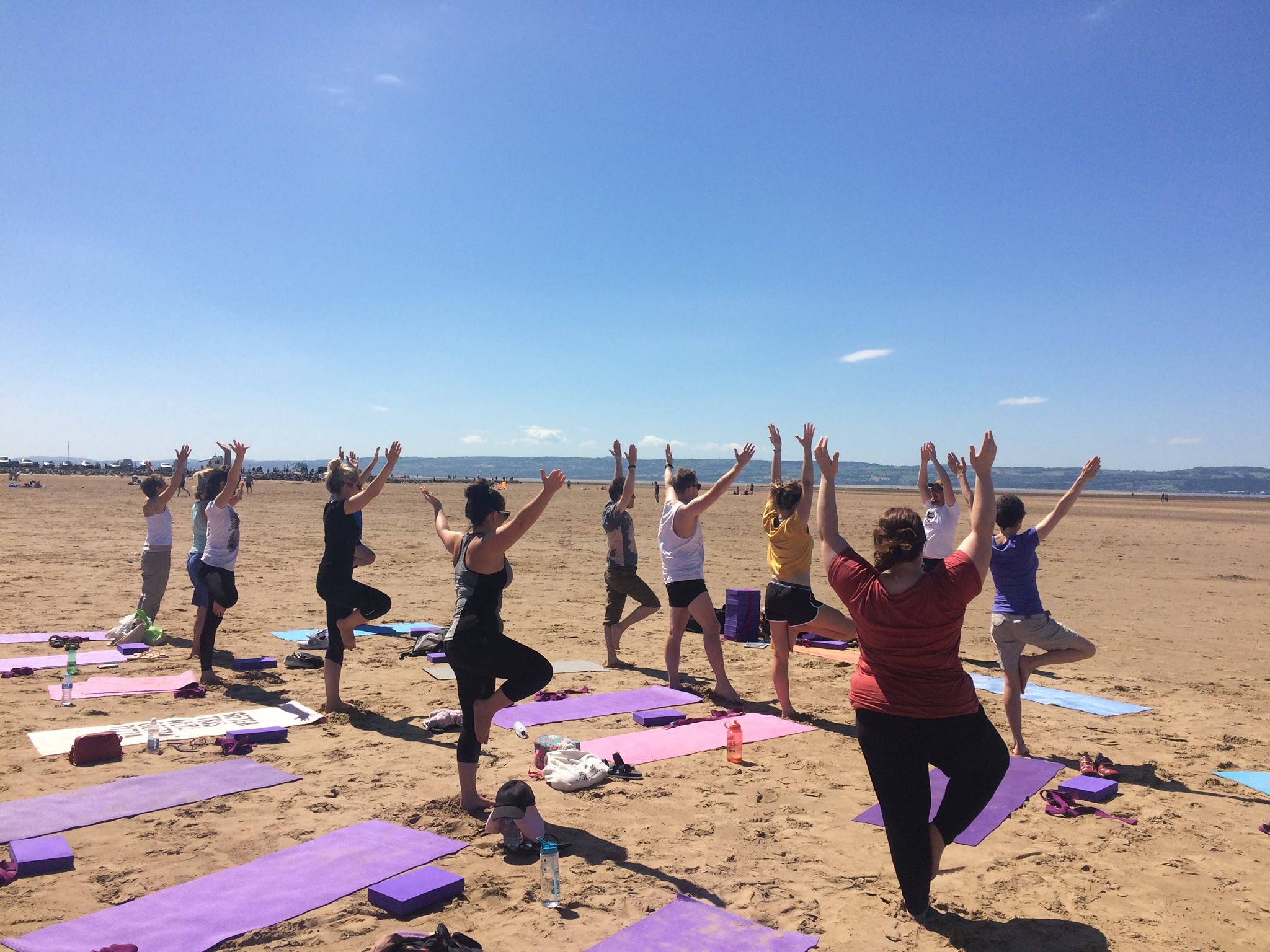 pop up beach yoga