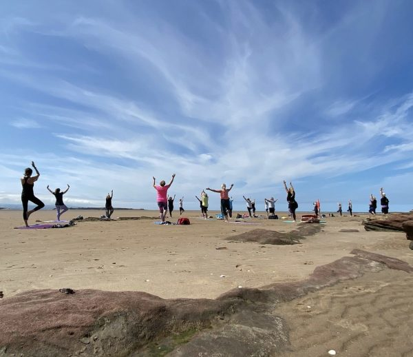 wirral pop up beach yoga